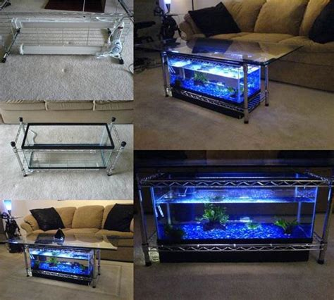 Aquarium Coffee Table Diy How To Diy Aquarium Coffee Table Beesdiy
