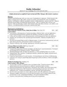 sle resume for experienced hr executive hr assistant resume