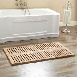 47 quot x 24 quot rectangular teak shower mat bathroom
