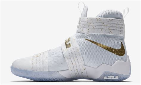 Nike Lebron Soldier 10 High Black Gold nike zoom lebron 10 ltmd white and gold navis
