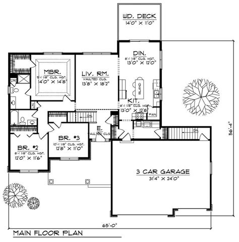 cost to finish 1500 sq ft basement ranch home with 4 bdrms 2490 sq ft house plan 101 1500