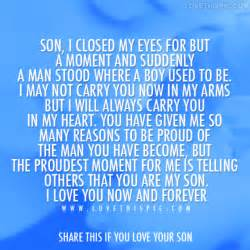 Love Quotes For Your Son by I Love You Son Quotes Quote Addicts