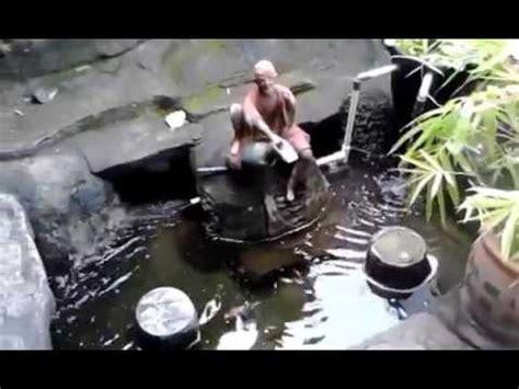membuat filter air kolam sederhana membuat filter kolam koi sederhana diy youtube