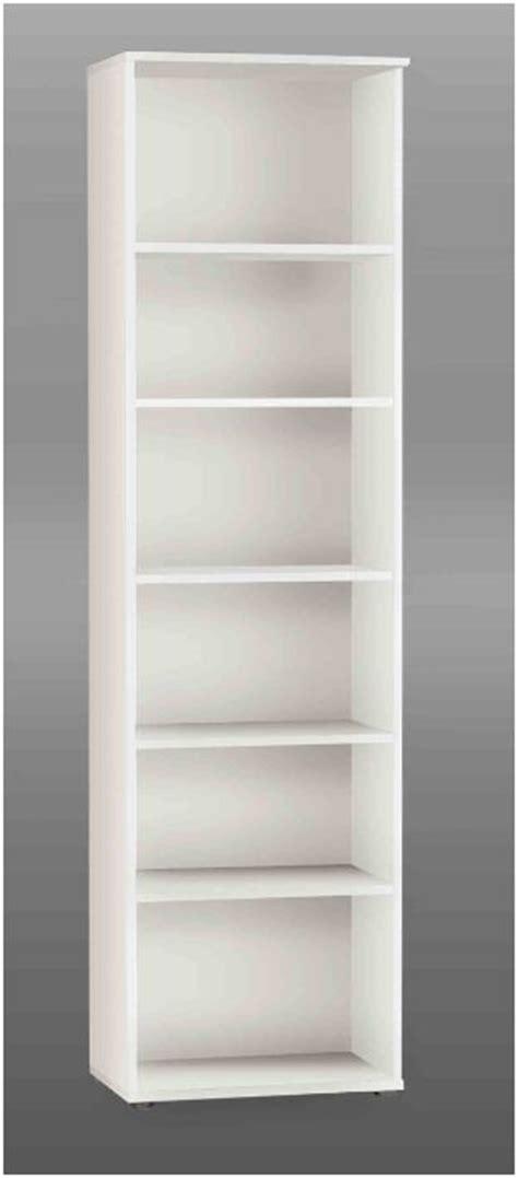 Free Bookcases Tempra White Tall Narrow Bookcase Bookshelf Furniture Kr02 120