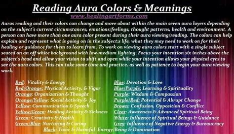 aura colors meanings auras reiki en meditatie