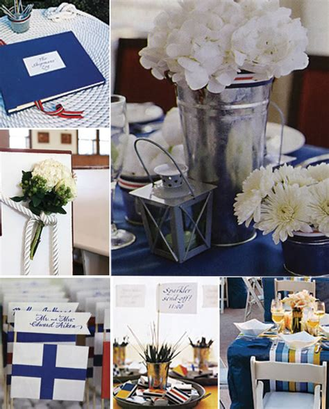 themed wedding decor nautical wedding decorations decoration