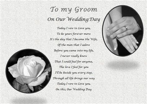 what to gift my on day my groom on our wedding day personalised gift ebay
