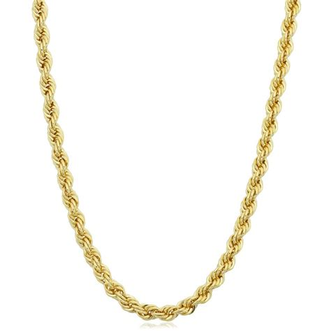1000 ideas about 14k gold rope chain on gold