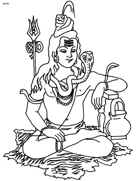 Shiva Coloring Pages lord shiva free coloring pages