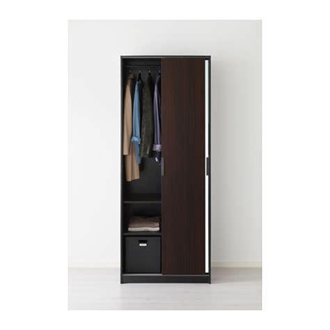 Trysil Wardrobe by Trysil Wardrobe Brown Mirror Glass 79x61x202 Cm