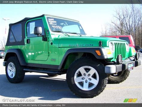 Lime Green Jeep Wrangler 2012 For Sale Electric Lime Green Pearl Slate Gray 2004 Jeep
