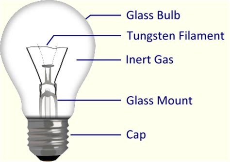 Parts Of A Light Bulb by Scientific Computing Project 2