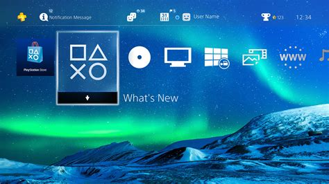 changer themes ps4 glacial aurora borealis hiq theme on ps4 official