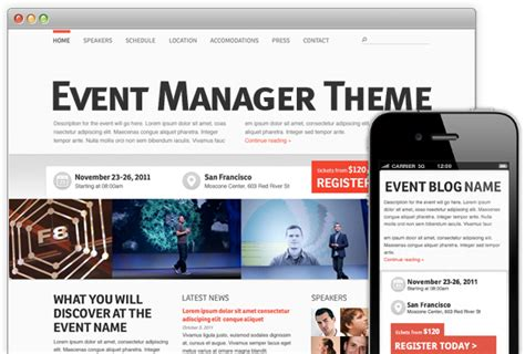 18 plus wordpress events themes and templates for 2015