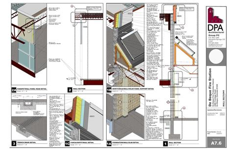 sketchup layout extensions fire station wall section developed in sketchup and layout