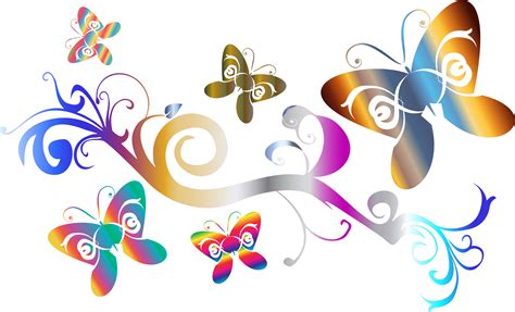 farfalle clipart clipart butterflies flourish enhanced