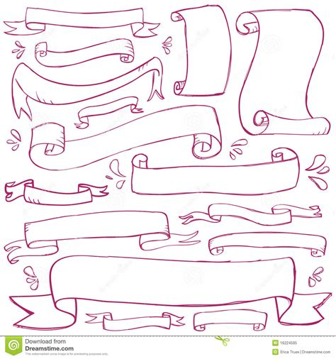 free doodle banner vector doodle banners stock vector illustration of sketchy