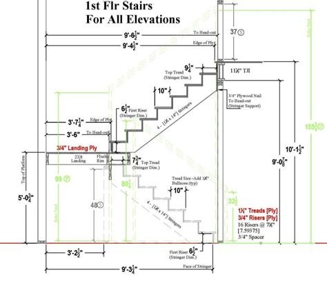 stairs on floor plan typical residential stair plan drawing google search