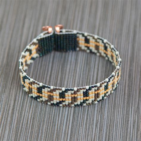bead loom bracelet metallic tweed twist bead loom bracelet bohemian boho