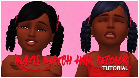 27 besten sims 4 hair maxis match recolor bilder auf maxis die sims und the sims 4 how to recolor ethnic maxis match hairs alpha hairs livestream