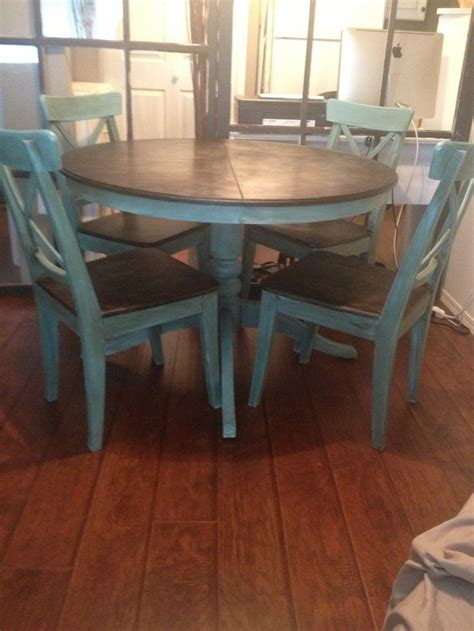 Painted Dining Room Furniture Ideas Dining Room Set Redo With Chalk Paint Ideas Search Furniture Diy