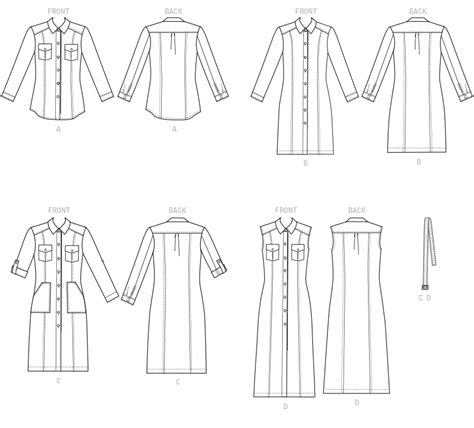 pattern review template mccall s 7470 misses button down shirt and shirtdresses