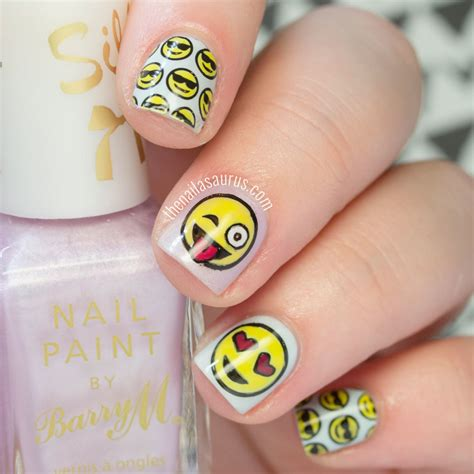 emoji nail art tutorial emoji nails www imgkid com the image kid has it