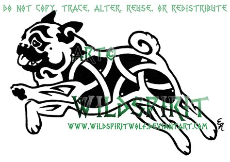 knotwork pug dog tattoo by wildspiritwolf on deviantart