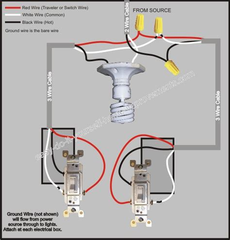 3 way switch wiring diagram diy diagram