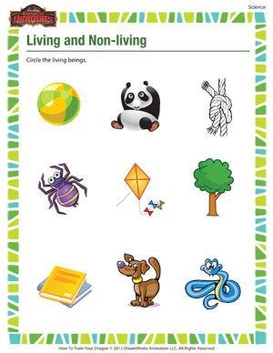 Living And Nonliving Things Worksheets Pdf by Living And Non Living Free Science Worksheet For 1st