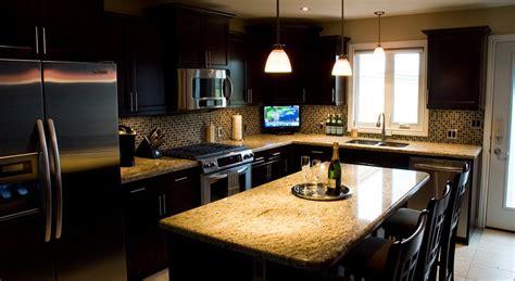 Kitchen With Backsplash giallo ornamental granite waterfall edge profile