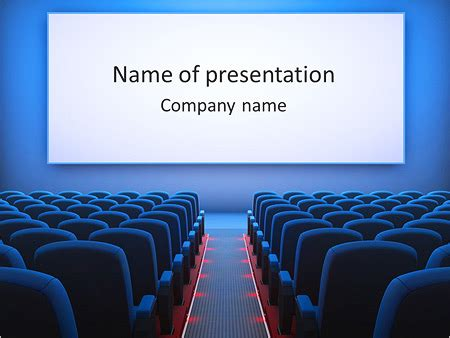 templates powerpoint cinema cinema hall powerpoint template backgrounds id