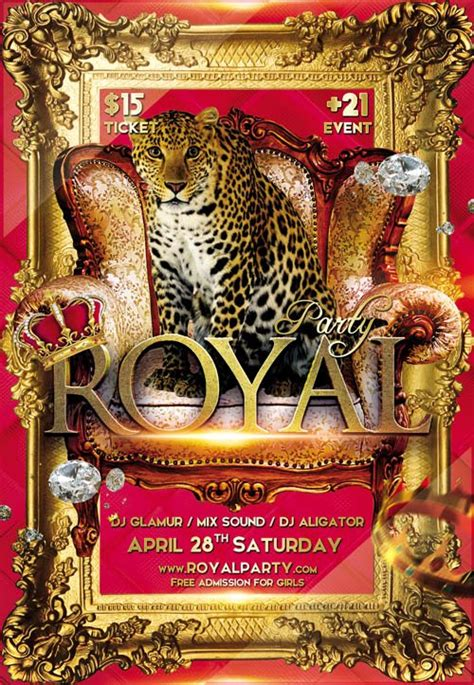 royal party club flyer psd template nitrogfx