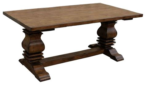 anaheim trestle reclaimed wood dining table farmhouse