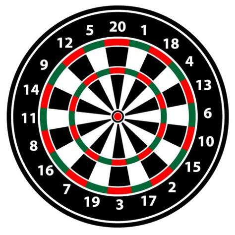 pattern dartboard numbers realistic dartboard vector illustration cards for man
