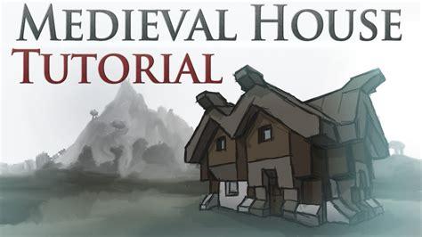 Blueprint Houses medieval house tutorial youtube