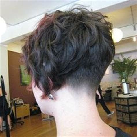 shaved nape and a perm curly perms with shaved napes short hairstyle 2013