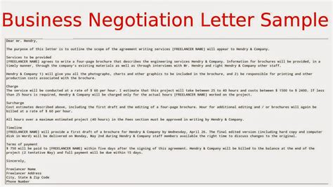 Insurance Contract Negotiation Letter Template April 2015 Sles Business Letters