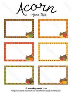 Nametag Template by Printable Acorn Name Tags