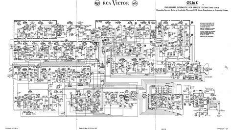 vintage rca color television tv schematics