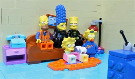 lego simpsons couch watch this lego movie simpsons couch gag mashup itworld
