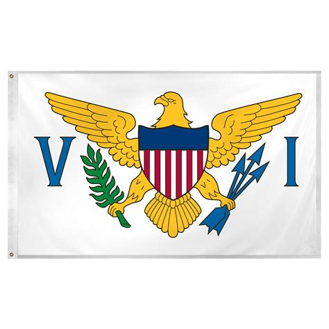 Low Cost Wall Decor U S Virgin Islands Flag 3ft X 5ft Super Knit Polyester