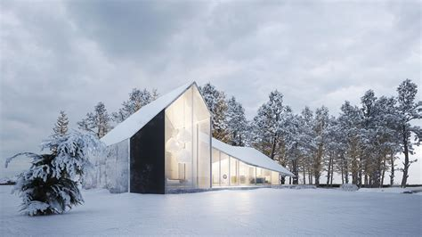 winter house design winter house by sergey makhno architects archiscene your daily architecture