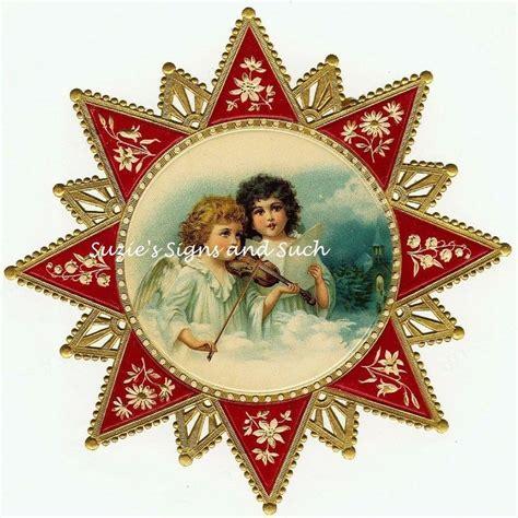 printable christmas angel decorations vintage victorian christmas postcard printed onto fabric