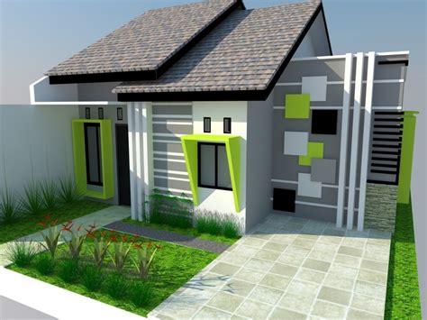 cat design eksterior rumah rumah sederhana hijau desain atap rumah minimalis