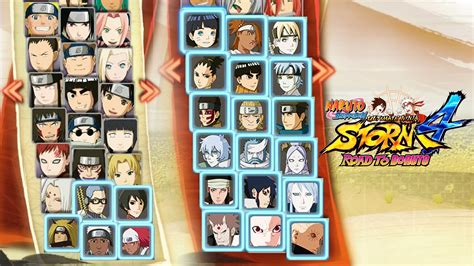 boruto list of characters naruto storm 4 road to boruto complete full roster