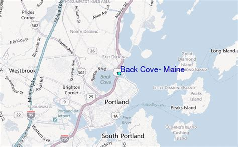 Back Cove, Maine Tide Station Location Guide