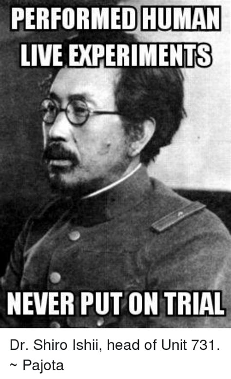 Meme Unit - performed human live experiments never put on trial dr
