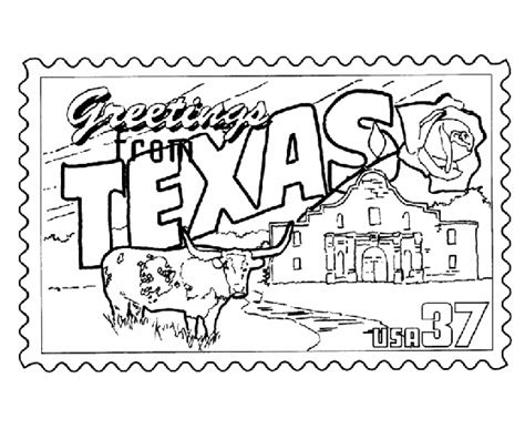 printable state postcards could have students color the quot greetings from texas quot st