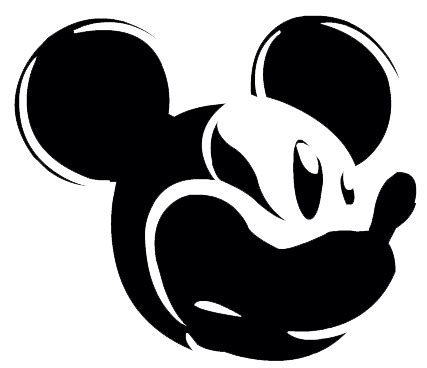 Mickey Mouse Silhouette Clip by Mickey Mouse Silhouette Clipart Best